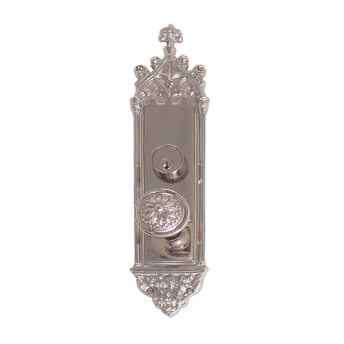 Brass Accents Renaissance Collection Gothic Mortise Entrance Set