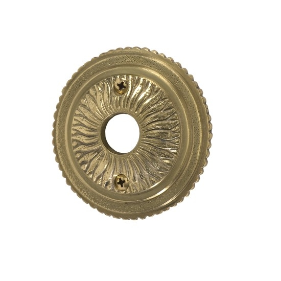 Brass Accents Sunburst Rosette