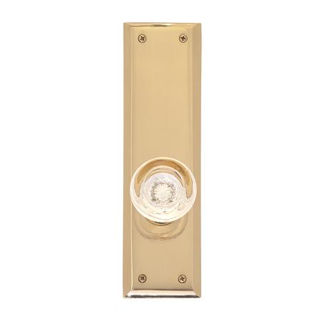 Brass Accents D07-K540 Quaker Decorative Plate with Empire Knob