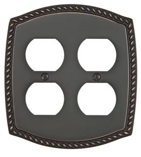 Emtek 29232 Rope Duplex 2 Switchplate Oil Rubbed Bronze (US10B)