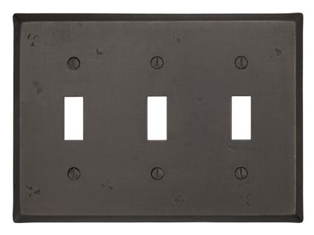 Emtek 29113 Rustic Toggle 3 Switchplate Medium Bronze Patina (MB)