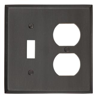 Emtek 29141 Rustic Toggle 1 Duplex 1 Switchplate Medium Bronze Patina (MB)