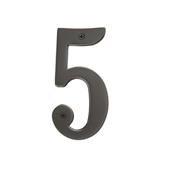 Emtek Solid Brass House Numbers Oil Rubbed Bronze (US10B)