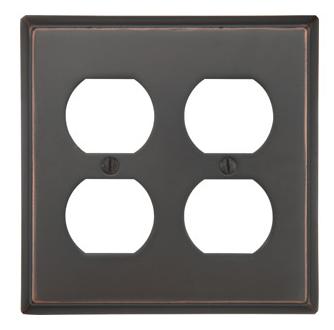 Emtek 29132 Colonial Duplex 2 Switchplate Oil Rubbed Bronze (US10B)