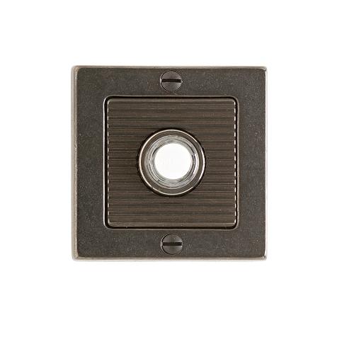 Rocky Mountain Round Designer Leather Door Bell Silicone Bronze Dark Lustre