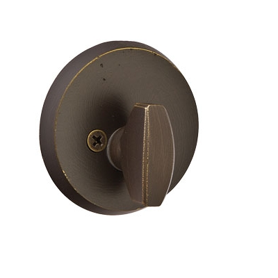 Emtek #2 Style Single Sided Deadbolt Medium Bronze Patina (MB)