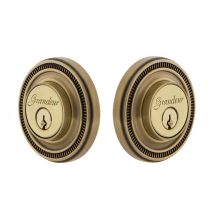 Grandeur Soleil Double Cylinder Deadbolt Vintage Brass