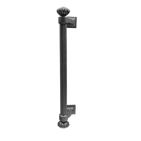 Emtek 86156 Lost Cast Wax Bronze Column Pull Flat Black Patina (FB)
