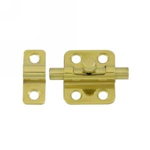 Deltana Solid Brass Barrel Bolt shown in Polished Brass (US3)
