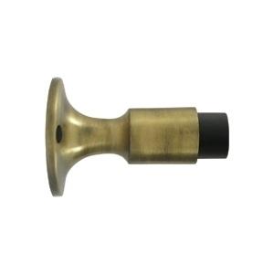 Deltana DWS325 Solid Brass Wall Mounted Door Bumper Antique Brass