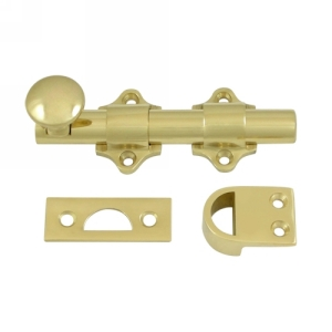 Deltana DDB425 Solid Brass Dutch Door Bolt in Polished Brass (US3)