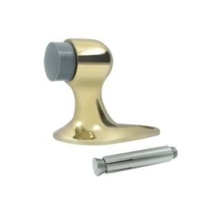 Deltana FDB218 Solid Brass Floor Mount Door Bumper 2 1/8 inch Polished Brass