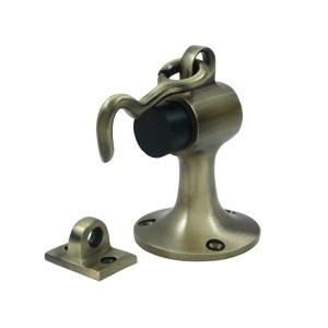 Deltana SAHF358 Solid Brass Floor Mount Door Bumper with holder Antique Brass