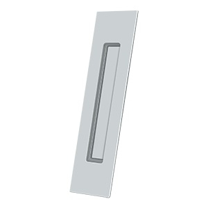Deltana FP10225 Solid Brass Rectangular HD Flush Pull Polished Chrome (US26)
