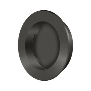 Deltana FP238 Solid Brass Round HD Flush Pull Oil Rubbed Bronze (US10B)