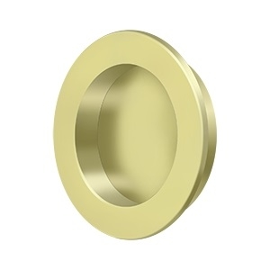 Deltana FP238 Solid Brass Round HD Flush Pull Polished Brass (US3)