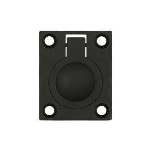 Deltana FRP175 Solid Brass Flush Ring Pull Oil Rubbed Bronze