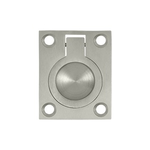 Deltana FRP175 Solid Brass Flush Ring Pull Satin Nickel