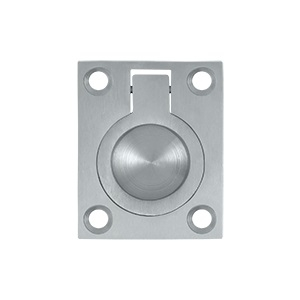 Deltana FRP175 Solid Brass Flush Ring Pull Satin Chrome