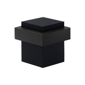Deltana UFBS138 Square Universal Floor Bumper Paint Black (US19)
