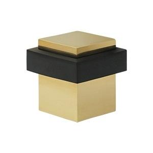 Deltana UFBS138 Square Universal Floor Bumper Unlacquered Brass (US3-UNL)