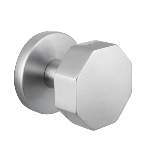 Emtek Brass Octagon Door Knob Set with Disk Rosette Satin Nickel (US15)