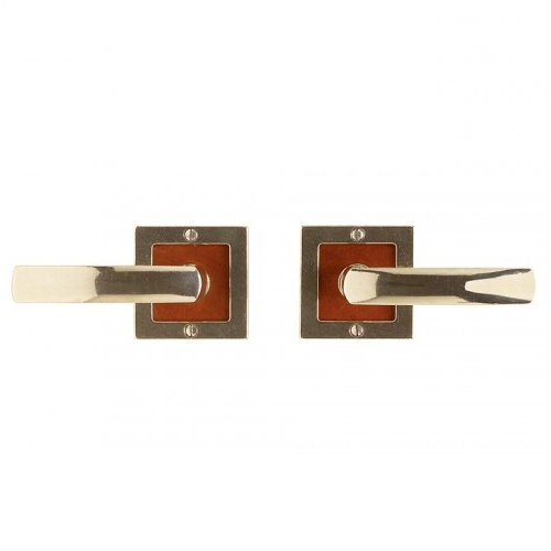 Rocky Mountain E103 Square Designer Escutcheon Speice Leather inlay
