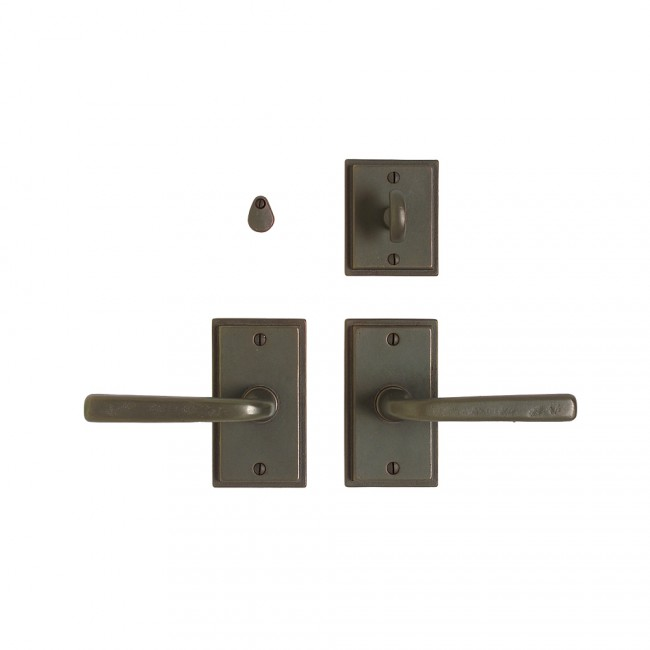 Rocky Mountain E304 Stepped Escutcheon with French Lever & IP318 Mortise Bolt