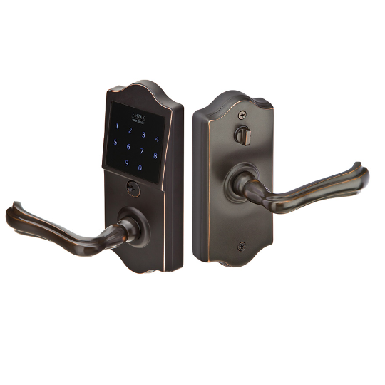 Emtek E4002 EmTouch Classic Style Electronic Leverset in Oil Rubbed Bronze