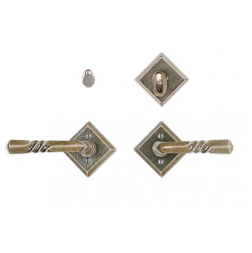 Rocky Mountain E415 Diamond Escutcheon with Twist Lever & IP415 mortise bolt