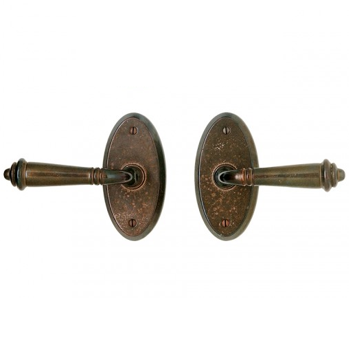 Rocky Mountain E501 Oval Escutcheon with choice of Knob or Lever