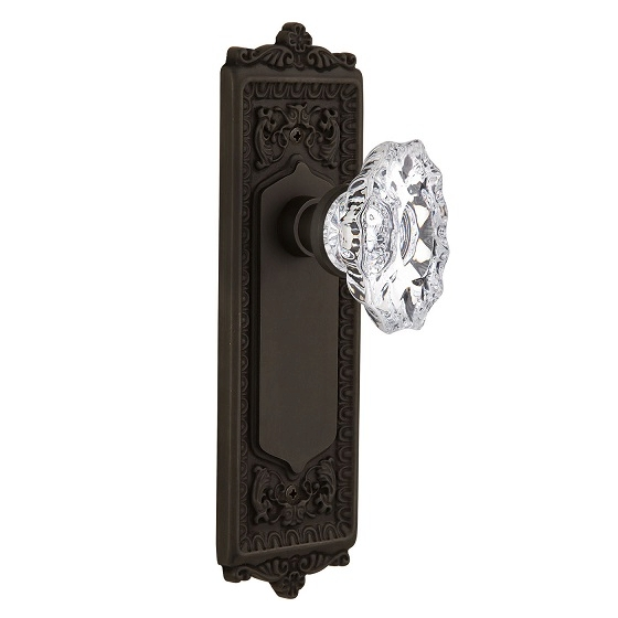 Nostalgic warehouse Egg and Dart Backplate with Chateau Knob Oil Rubbed Bronze
