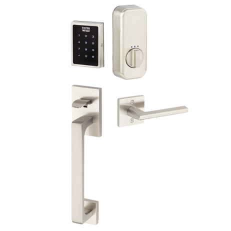 Emtek EMPowered™ EMP1103 US15 Touchscreen Keypad Baden Entry Set - Connected by August