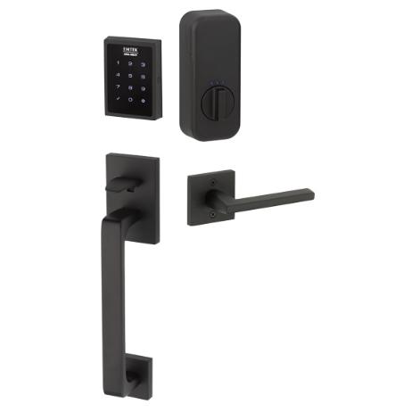 Emtek EMP0103 EMPowered™ Touchscreen Keypad Baden Entry Flat Black