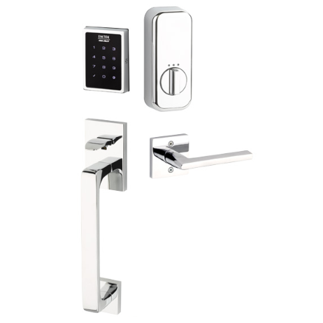 Emtek EMPowered™ EMP1103 US26 Touchscreen Keypad Baden Entry Set - Connected by August