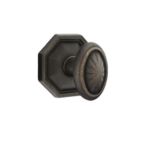 Emtek Parma Door knob with #15 Rose Medium Bronze Patina (MB)