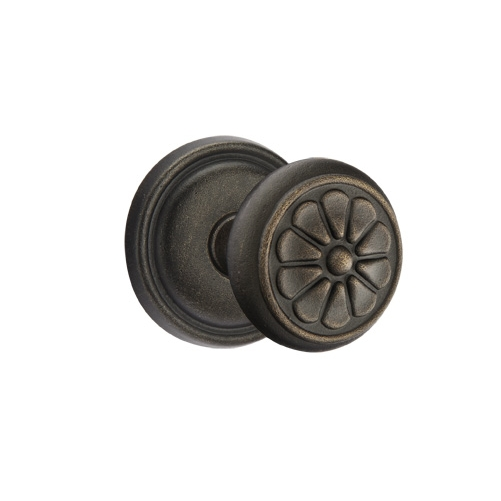 Emtek Petal Door knob with #12 Medium Bronze Patina (MB)