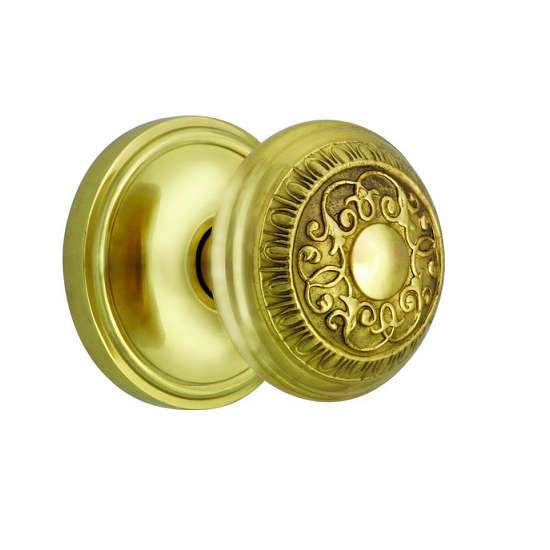 Nostalgic Warehouse Egg & Dart Privacy Mortise with Classic Rose Polished Brass