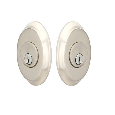 Emtek 8358 Saratoga Double Cylinder Deadbolt Satin Nickel (US15)