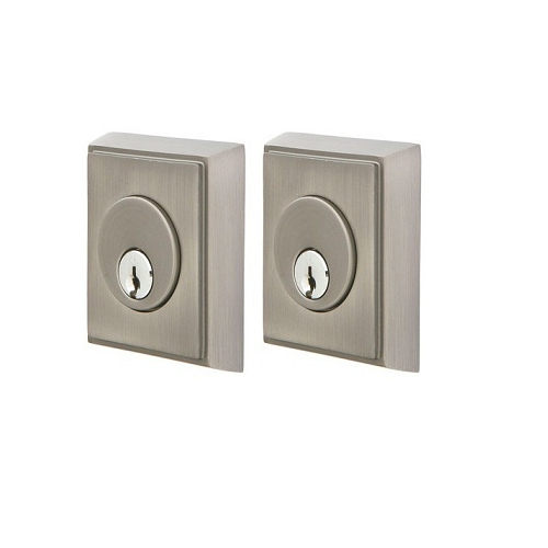 Emtek 8368 Rectangular Double Cylinder Deadbolt Pewter (US15A)