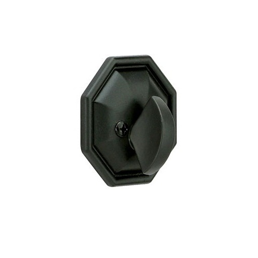 Emtek 8560 Octagon Style Single Sided Deadbolt Flat Black (FB)