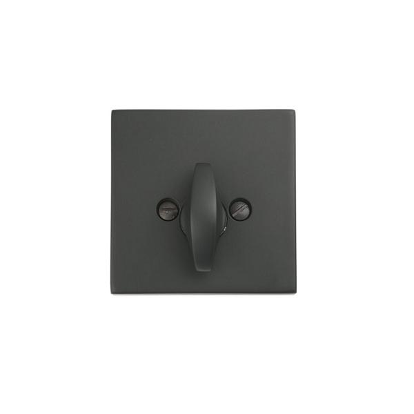 Emtek 8569 Square Style Single Sided Deadbolt Flat Black (US19)