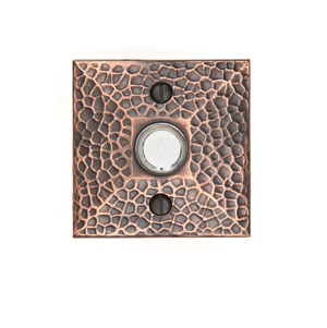 Emtek 2452 Door Bell Button w/Hammered Rose Oil Rubbed Bronze (US10B)