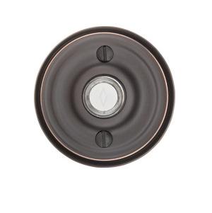 Emtek Door 2400 Bell Button w/Regular Rose Oil Rubbed Bronze (US10B)