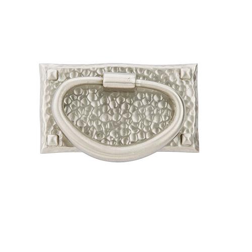 Emtek 86041 Hammered Oval Ring Pull Satin Nickel (US15)