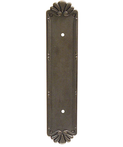 Emtek Lost Cast Bronze Petal Pull Plate 86182