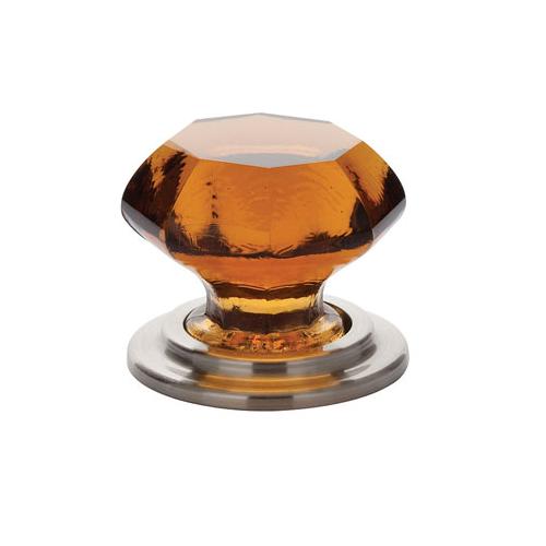 Emtek 86208 Old Town Amber Wardrobe Knob Satin Nickel (US15)