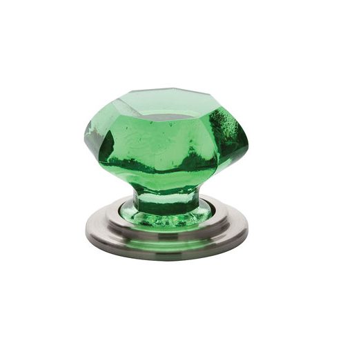 Emtek 86207 Old Town Emerald Wardrobe Knob Satin Nickel (US15)