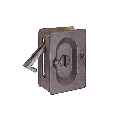 Emtek Privacy Pocket Door Lock Deep Burgundy (DB)