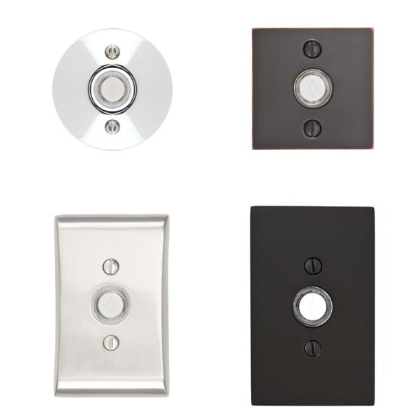 Emtek 2457, 2459, 2460, 2463 Contemporary Door Bell Buttons